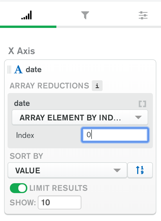 X Axis array reduction