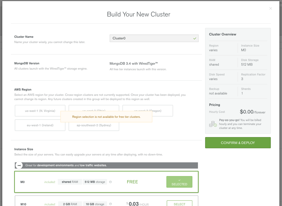 """Build your new cluster"""