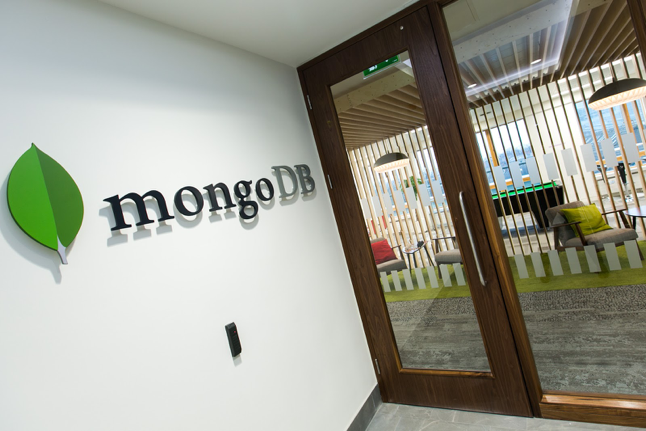 The entrance to the MongoDB Dublin office