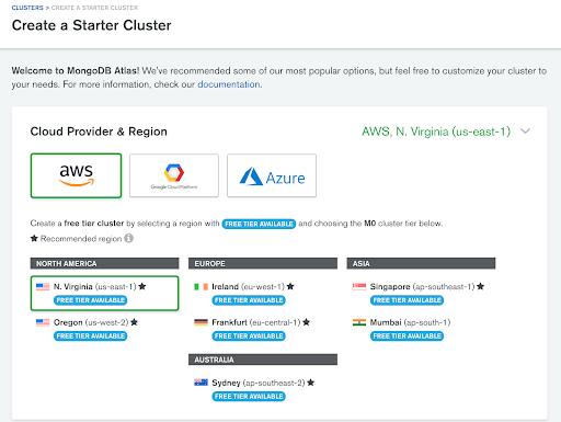 Create a MongoDB Atlas Cluster
