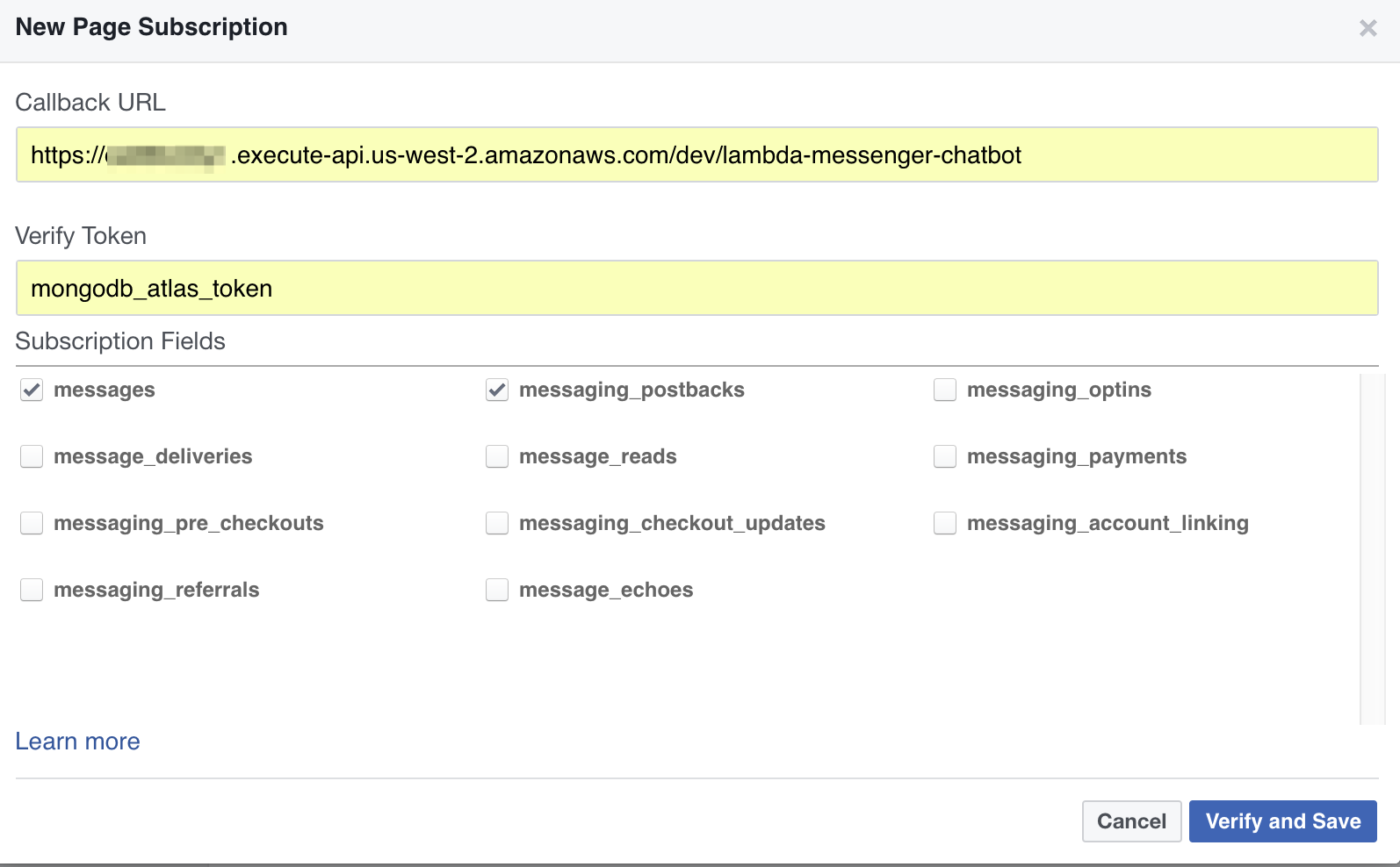 Developing a Facebook Chatbot with AWS Lambda and MongoDB