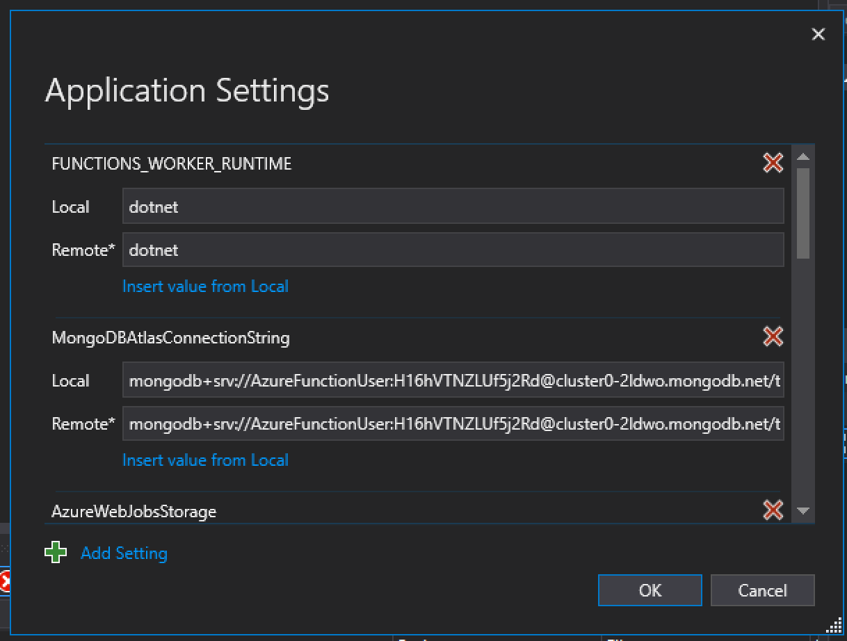 App Deployment Settings