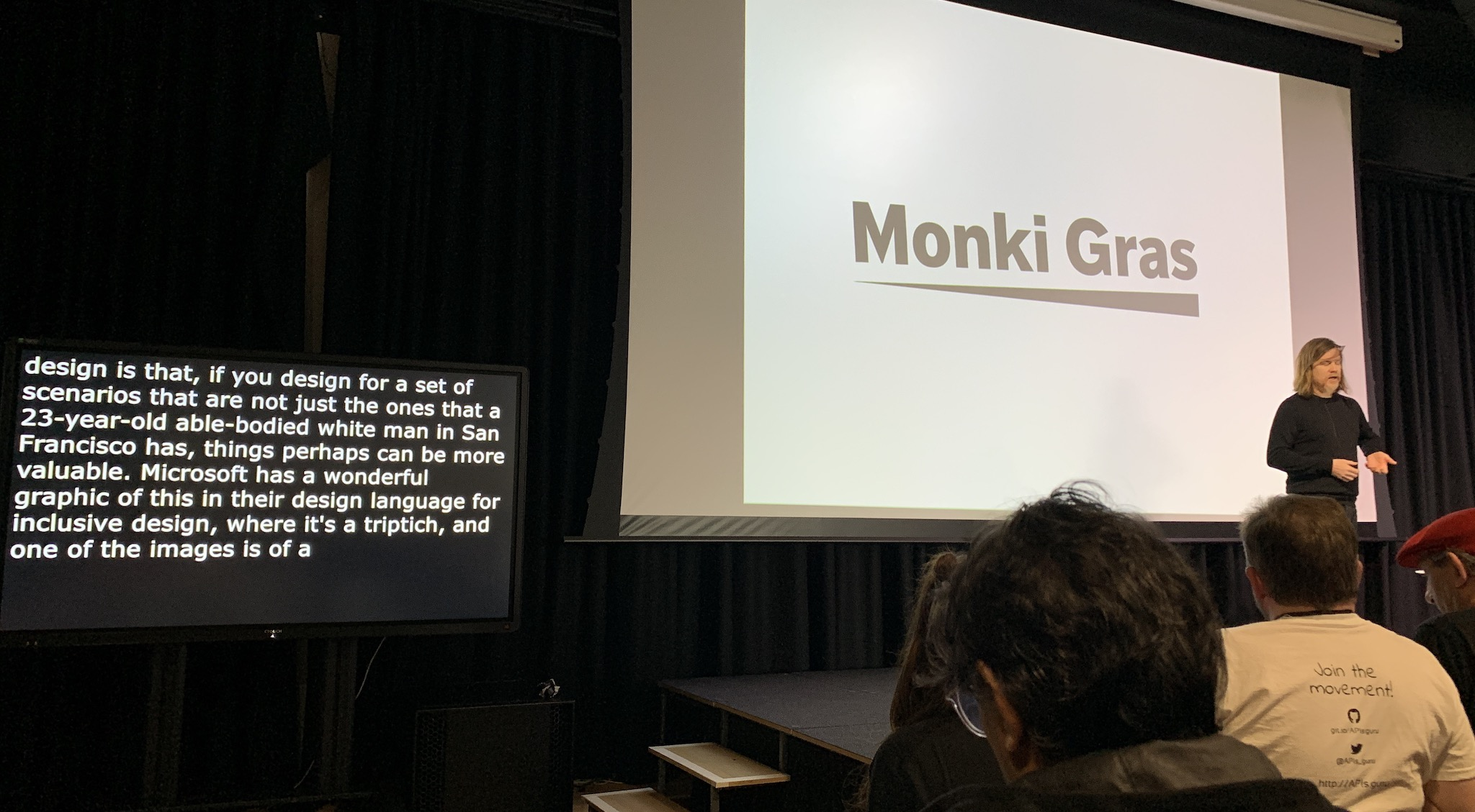 Captioning in action with James Governor at Monkigras 2019