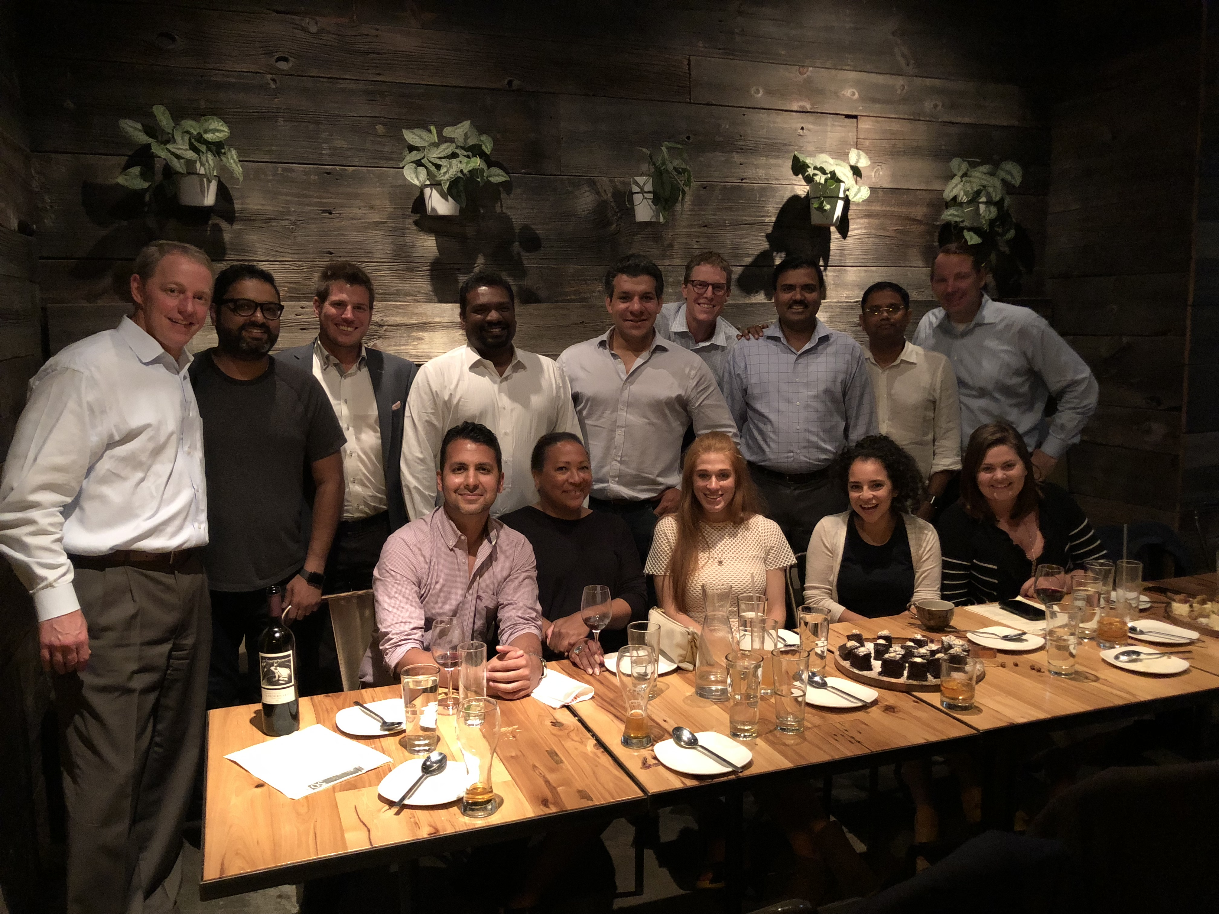2018 dinner with our Partner Team from around the world