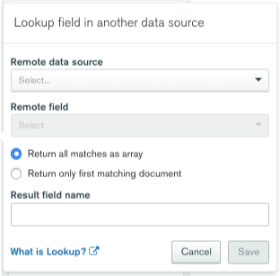 Lookup Field in Another Data Source