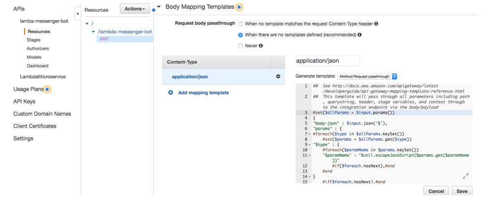 Developing a Facebook Chatbot with AWS Lambda and MongoDB