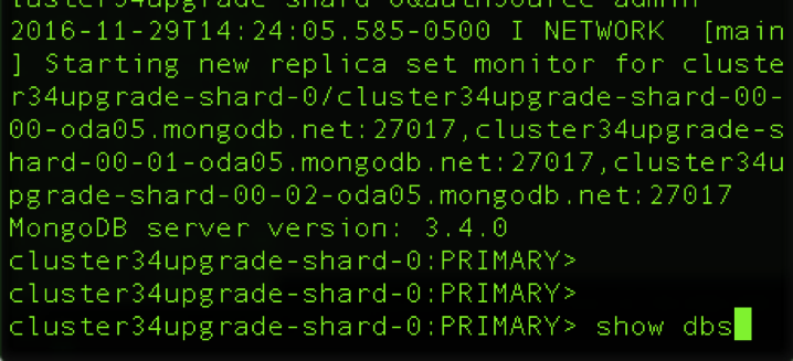 Test suite against MongoDB 3.4 test upgrade cluster