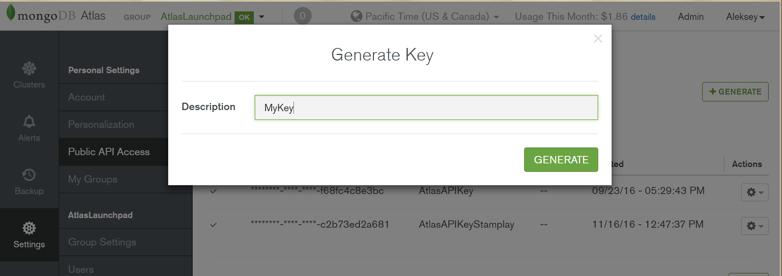 MongoDB Atlas API Access
