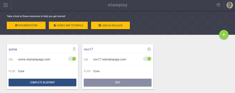 Log In to Stamplay