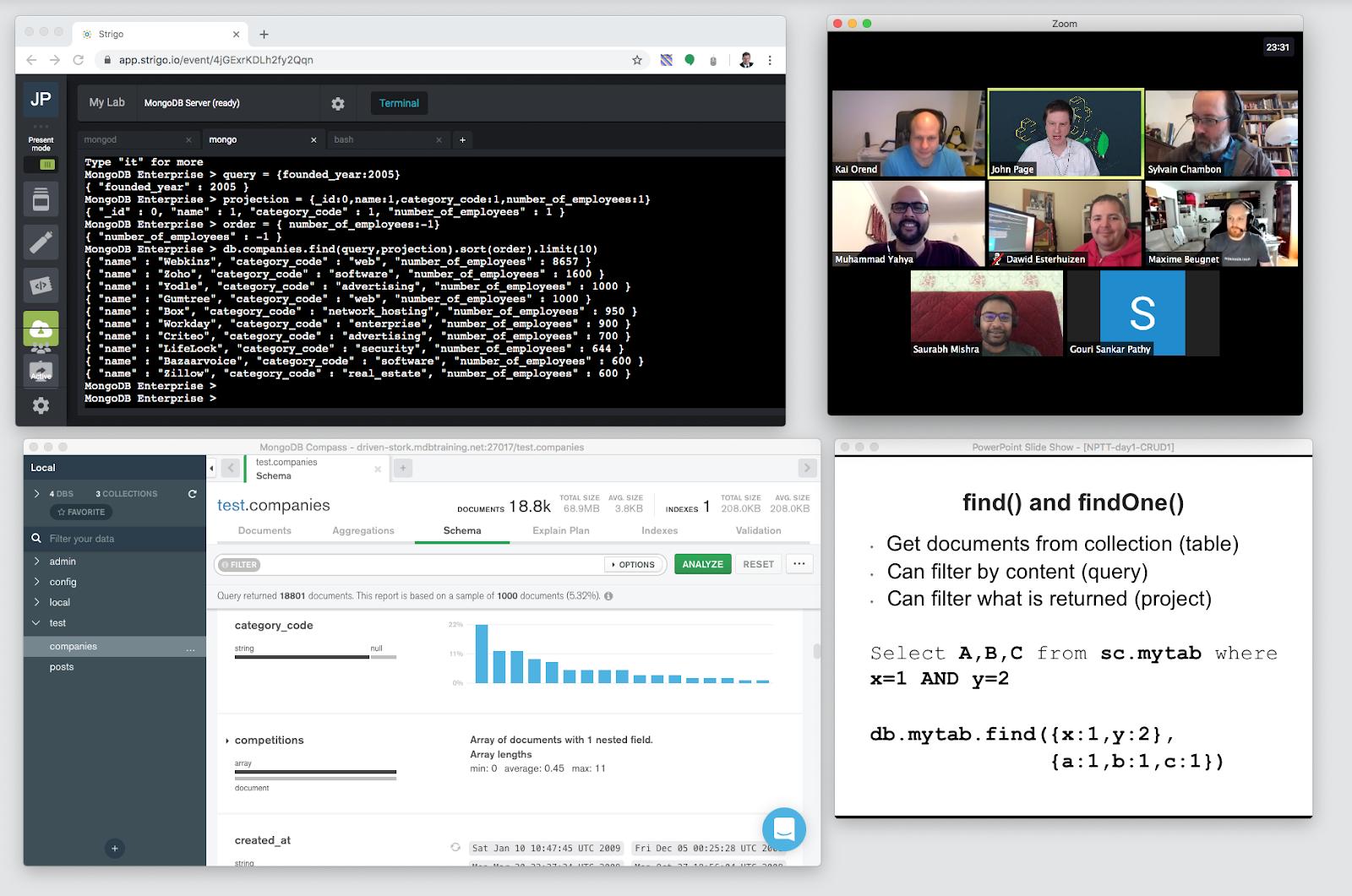 MongoDB Remote Training