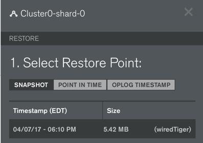 Database backups and restore