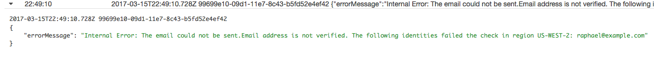 AWS Step Functions - CloudWatch Error