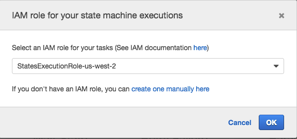 AWS Step Functions IAM Role
