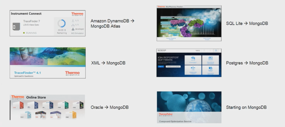 Thermo Fisher apps moving to MongoDB