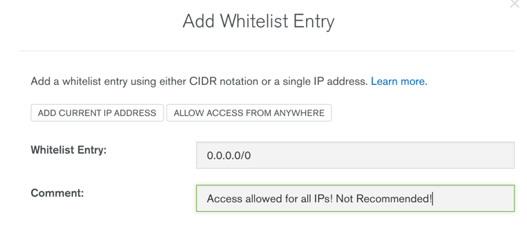 Add Whitelist Entry