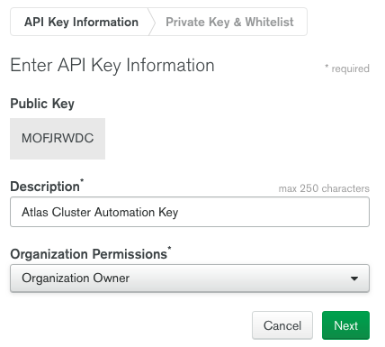 API Key Information