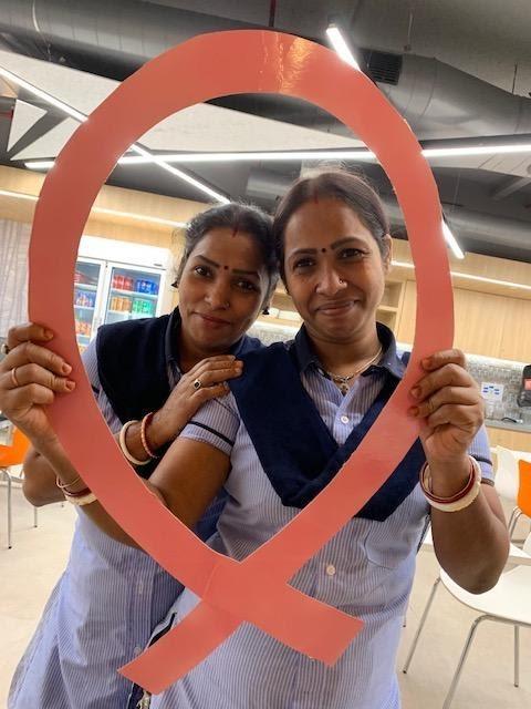 Raising breast cancer awareness in MongoDB's Gurugram, India office