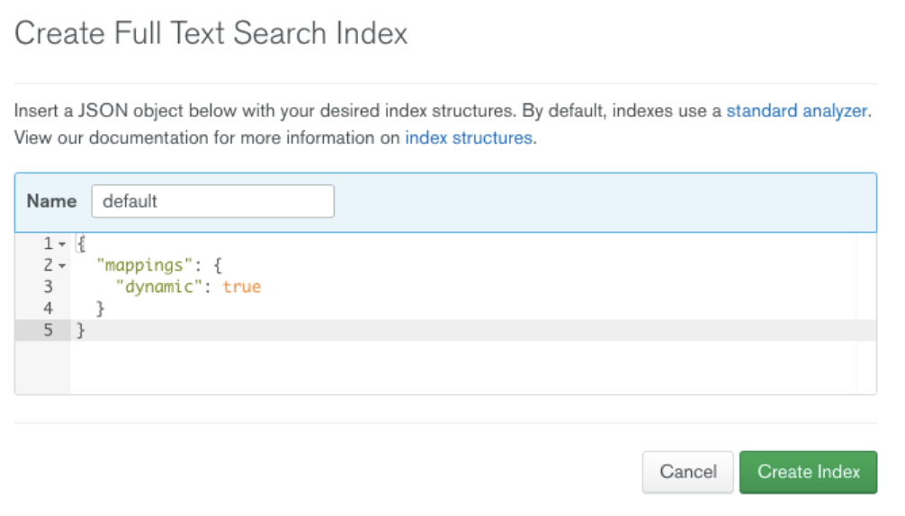 """""""Create Full Text Search Index"""""""