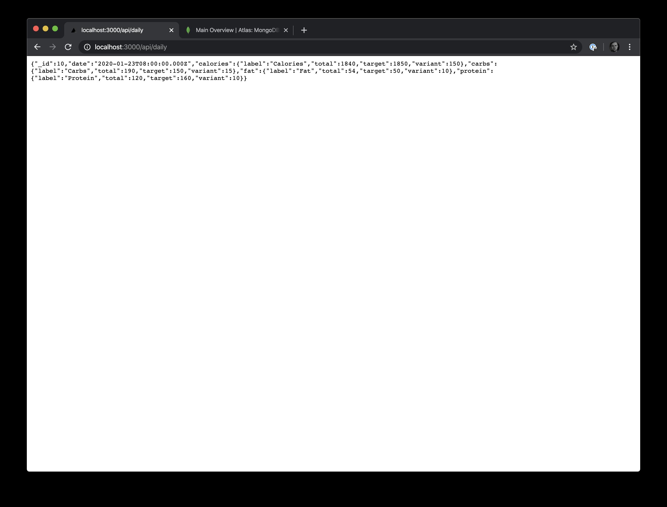 Daily API Response