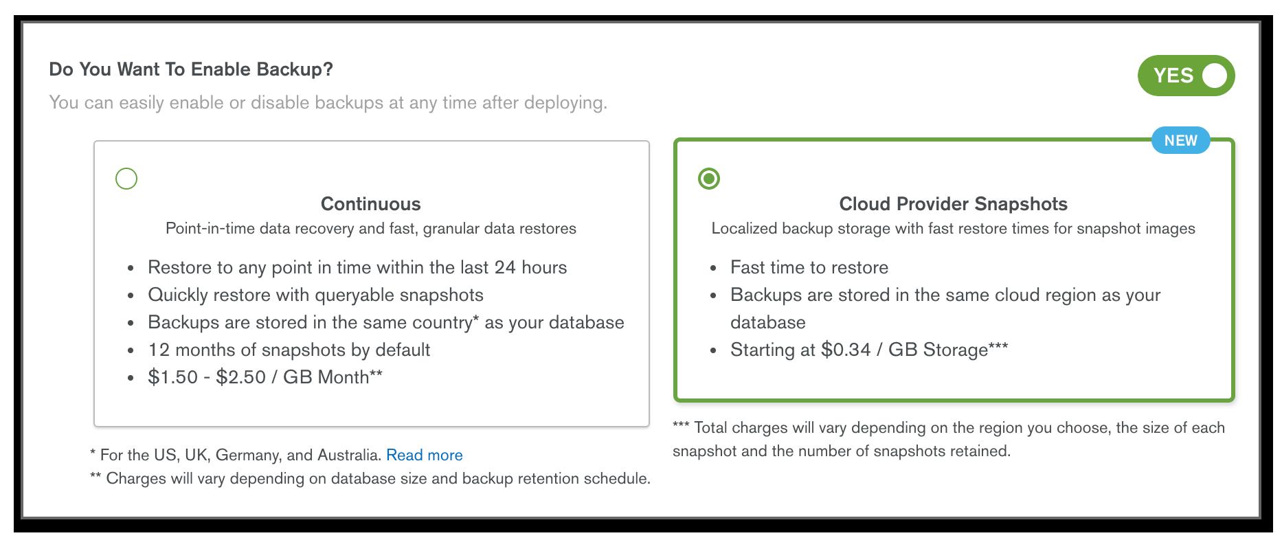 New to MongoDB Atlas — Cloud Provider Snapshots on Azure