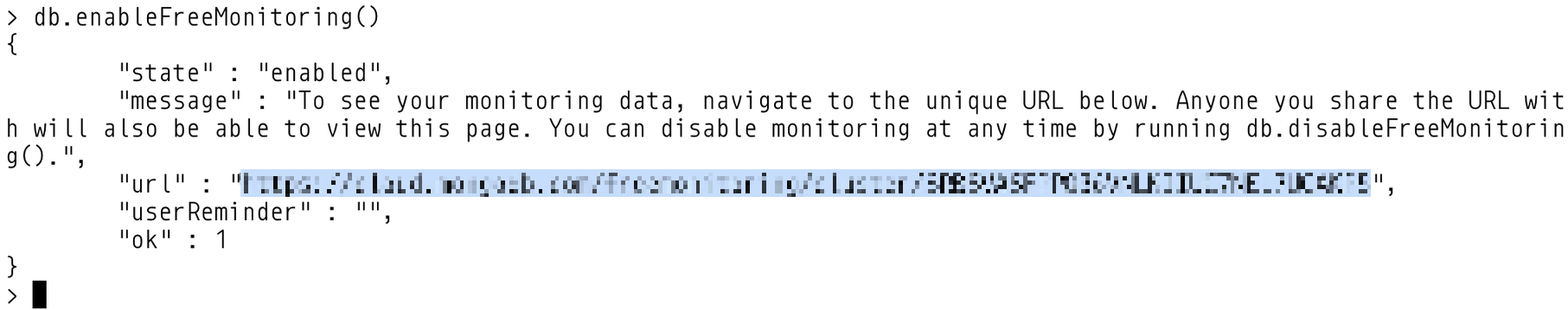 Enabling Free Monitoring