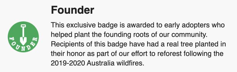 Community Founder Badge