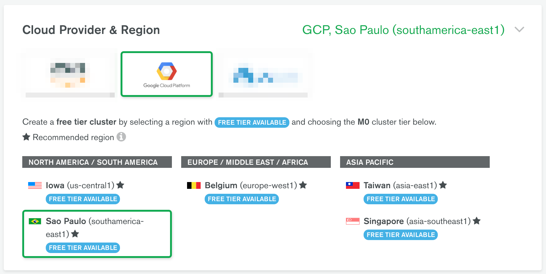 The GCP Road to São Paulo with MongoDB Atlas