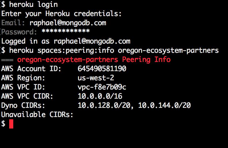 Integrating MongoDB Atlas with Heroku Private Spaces | MongoDB