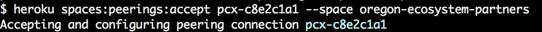 Heroku CLI Accept VPC Peering request