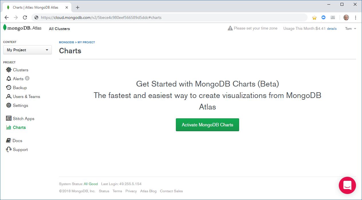 MongoDB Charts(Beta) inside MongoDB Atlas