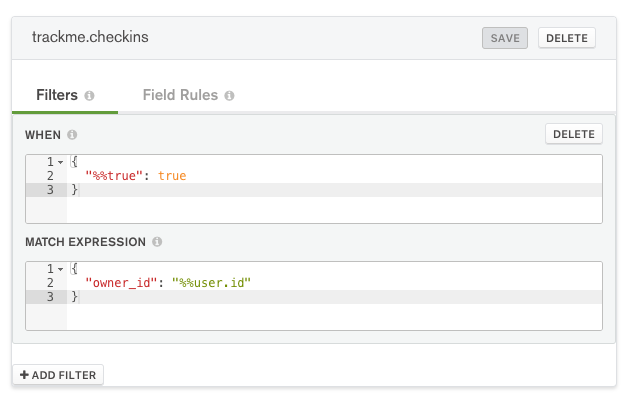 MongoDB Stitch collection filter