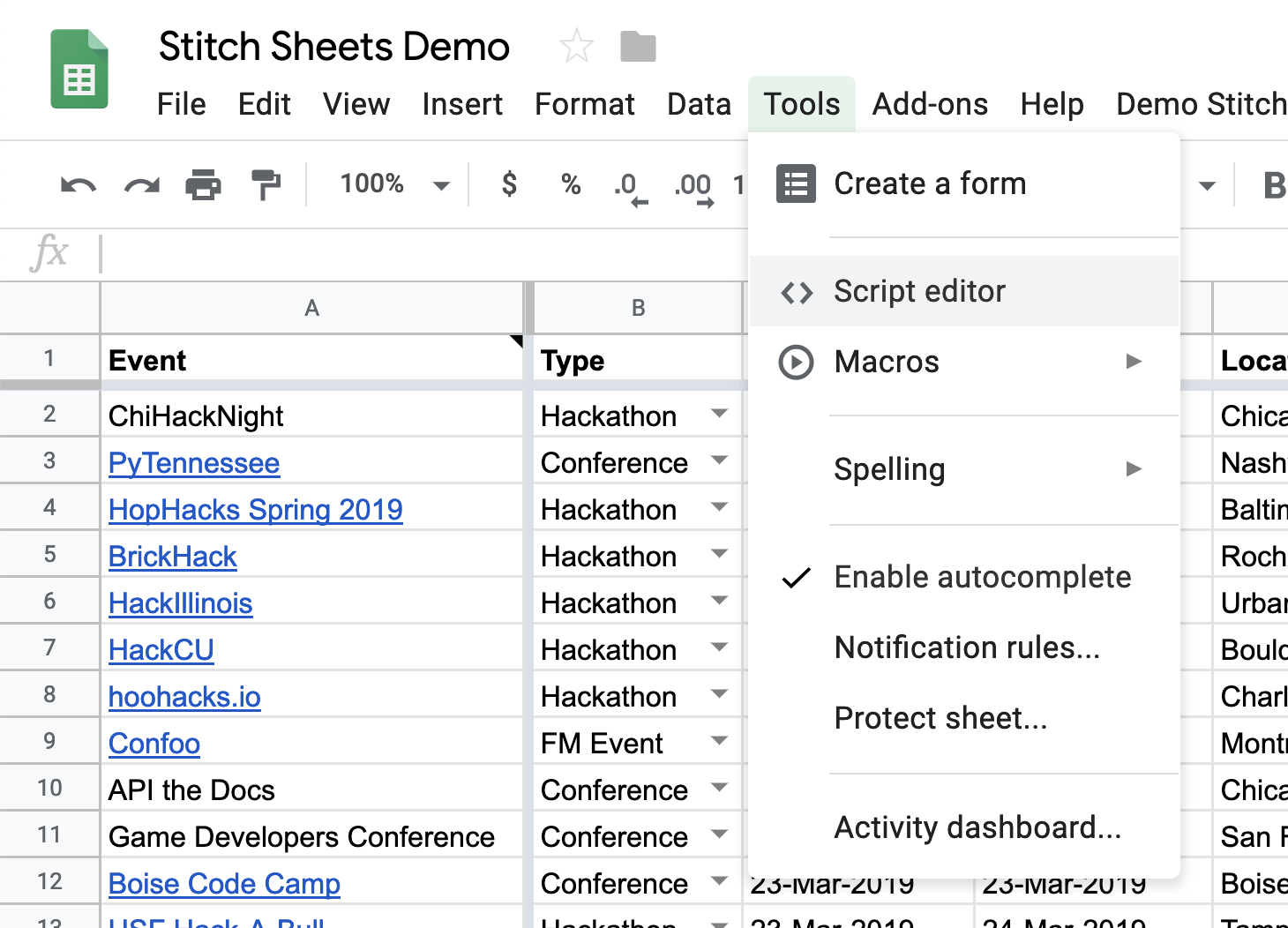 Stitching Sheets: Using MongoDB Stitch To Create An API For Data In