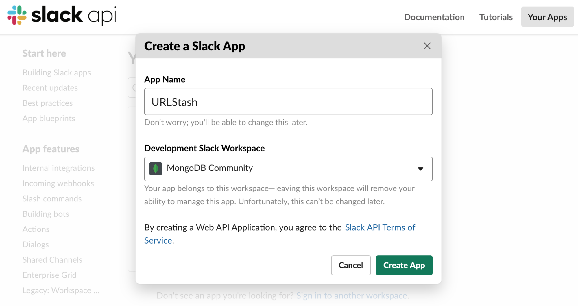 Creating a Slack Application