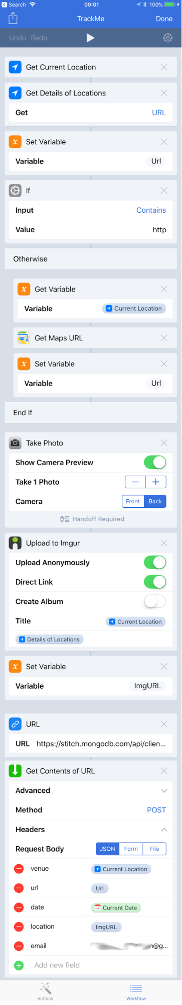 Create iOS Workflow for MongoDB Stitch app