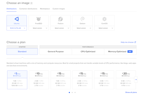 setting up a droplet on digitalocean for mongodb