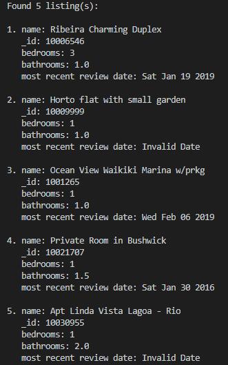 node.js code for mongodb database