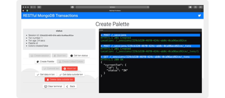 Figure 2: User screen view in RESTHeart