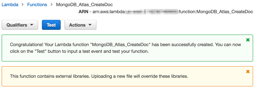 Serverless development with Node js, AWS Lambda and MongoDB Atlas