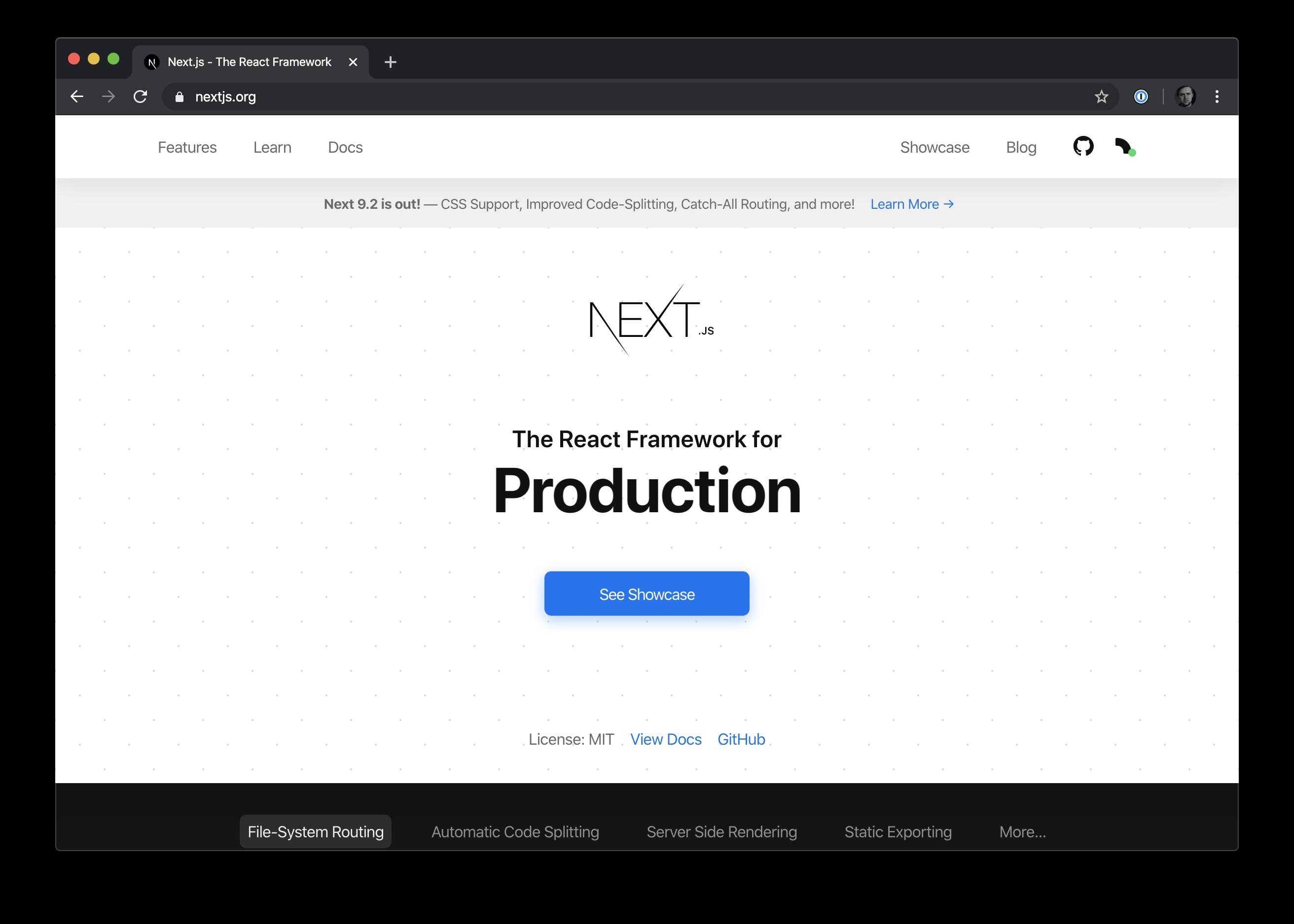 ReactJS Homepage