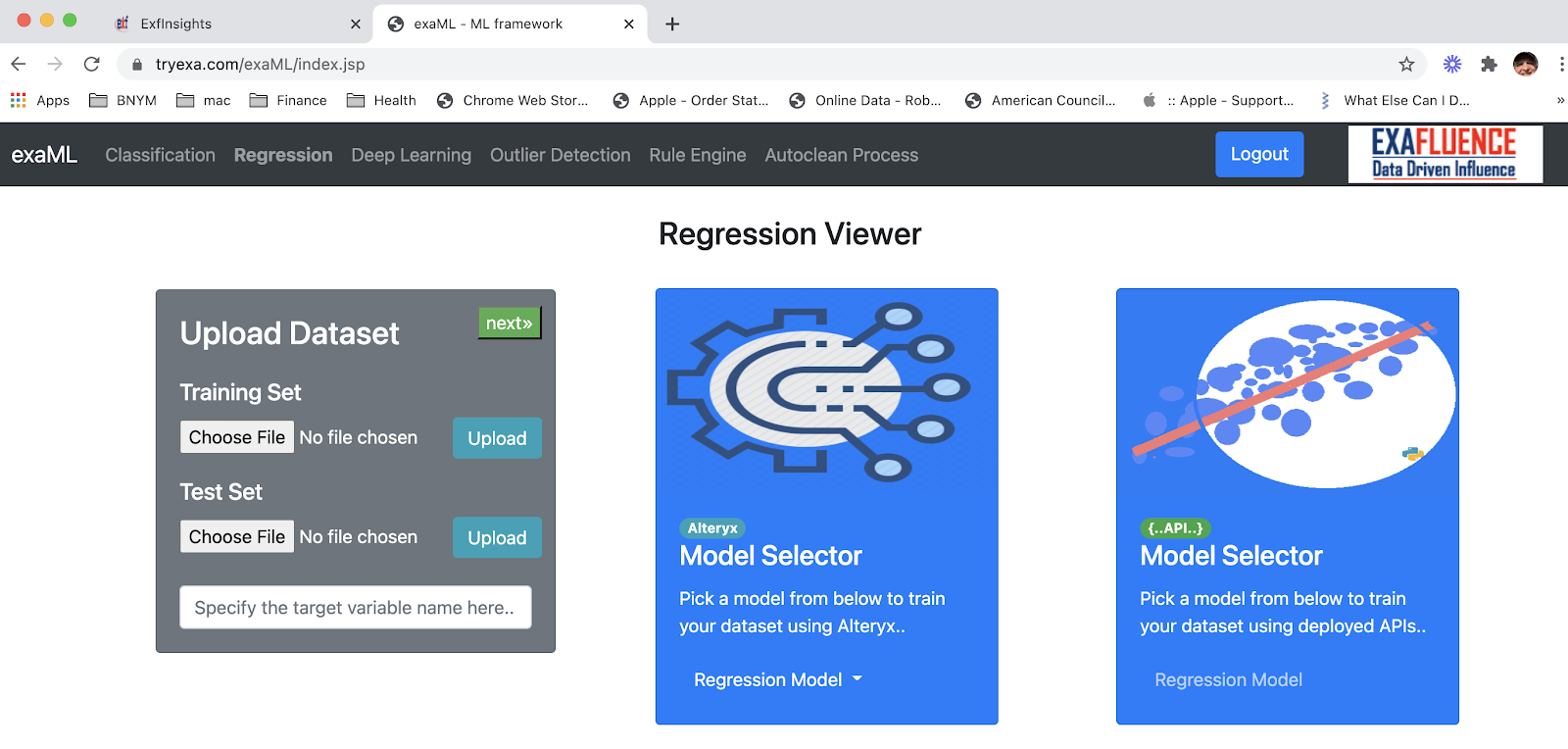 Regression Viewer
