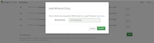 MongoDB Atlas API Whitelisting