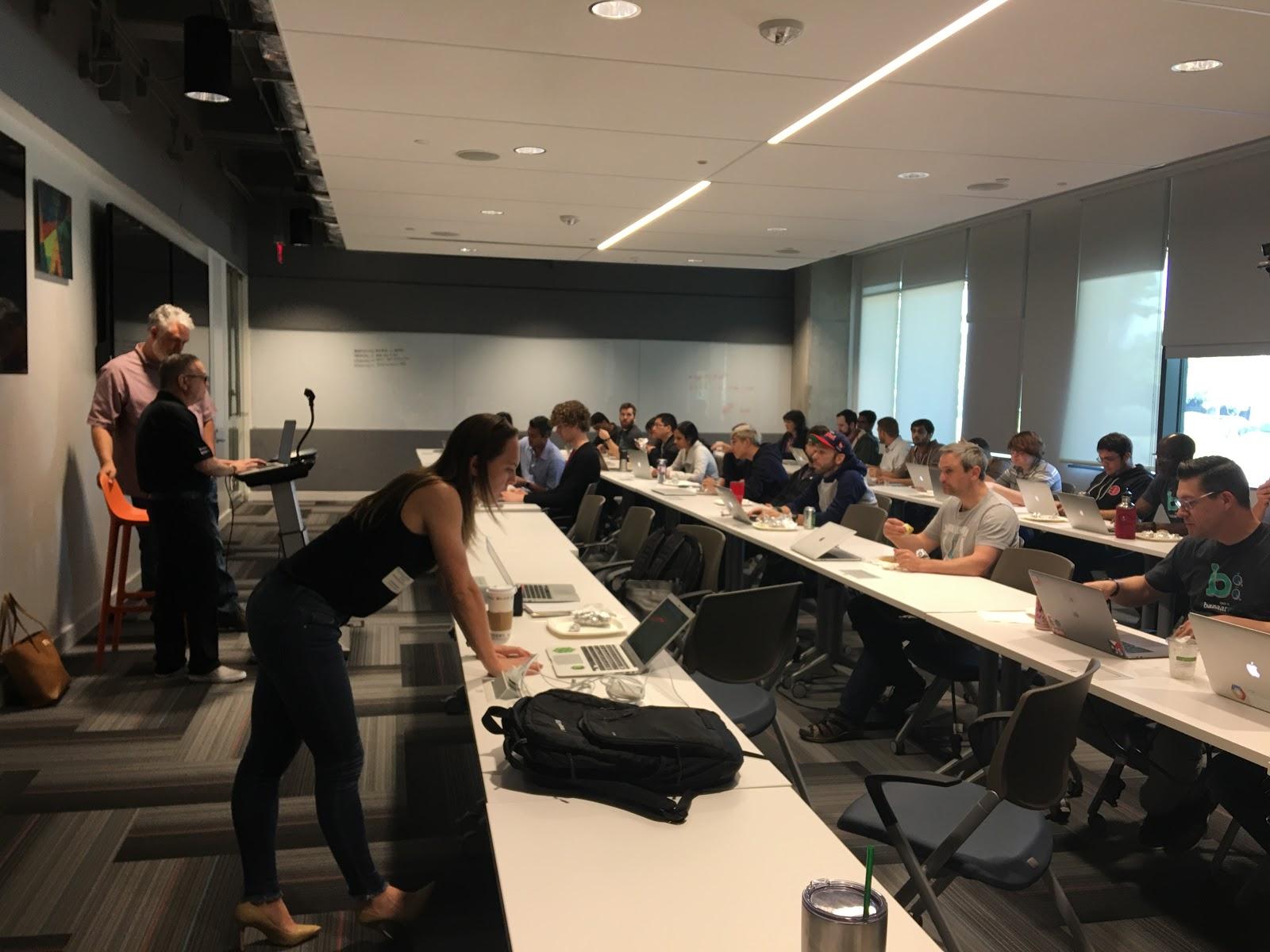 Sam Fiorenzo teaching Dev Workshop